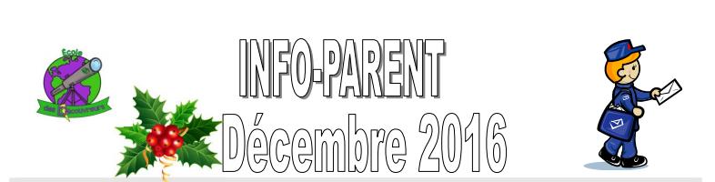 Info-parent: décembre