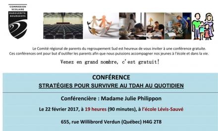 Conférence: Stratégies pour survivre au TDAH au quotidien